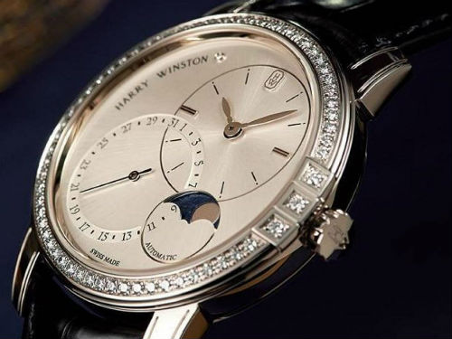 Midnight Date Moon Phase Automatic: бессмертная классика от Harry Winston